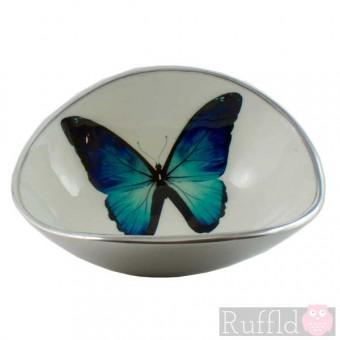 Azeti Aluminium Oval Bowl - Butterfly Design