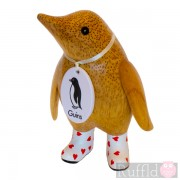 Baby Wooden Guin (penguin) In White Welly Boots