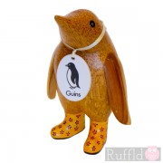 Baby Wooden Guin (penguin) In Yellow Welly Boots