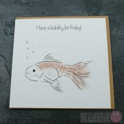 Birthday Card in the Pet Range - Mel the Fish