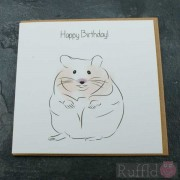 Birthday Card in the Pet Range - Ricky the Hamster