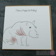Birthday Card in the Safari Range -  Tommy-Lee the Hippo