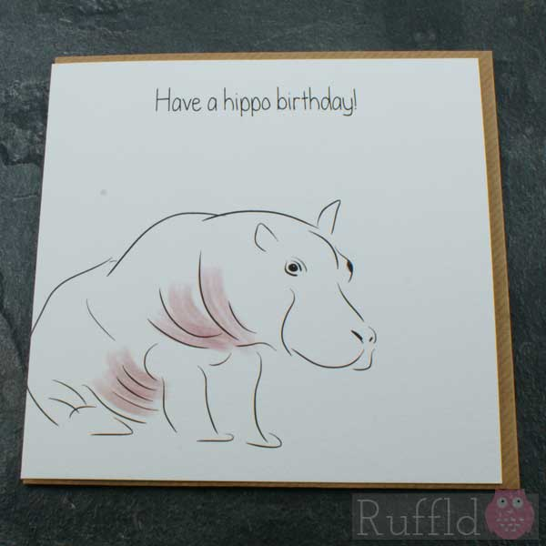 Birthday card in the safari range tommy lee the hippo bookmarktalkfo Image collections