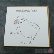 Birthday Card in the Arctic Range -  Ronaldo the Puffin