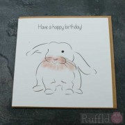 Birthday Card in the Pet Range - Angelina the Rabbit