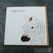 Birthday Card in the Safari Range -  Cary the Zebra