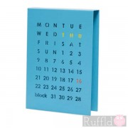 Perpetual Calendar in Blue