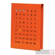 Perpetual Calendar in Orange