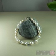 Handcrafted Swarovski White Pearl Bracelet