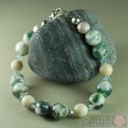 Gemstone Handcrafted Tree Agate Bracelet