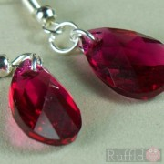 Earrings - Ruby Oval Crystal