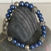 Bracelet - Handcrafted - Blue Pearl Design