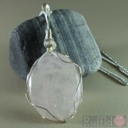 Gemstone Handcrafted Rose Quartz Pendant