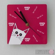 Clock - Pusskin Design in Pink