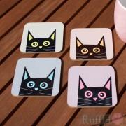Cat Coasters - Tomsk Design