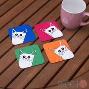 Cat Coasters - Pusskin Design