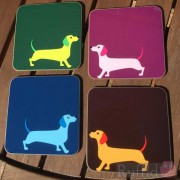 Dog Coasters - Dachshund Design