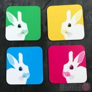 Coasters - Rabbit  Design