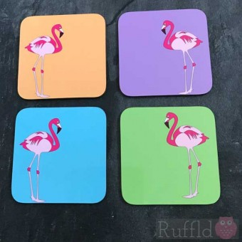 Coasters - Flamingo Design