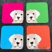 Dog Coasters - Honey Lab Design