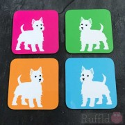 Dog Coasters - Scottie Design
