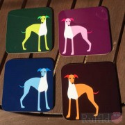 Dog Coasters - Whippet Design
