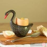 Egg Cup - Black Swan Design