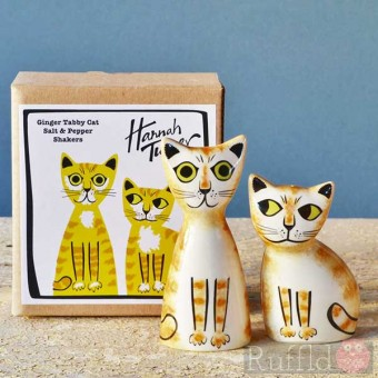 Salt and Pepper Shakers - Ginger Cat Design