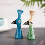 Salt and Pepper Shakers - Peacock Design