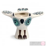 Egg Cup - Owl Design in Green