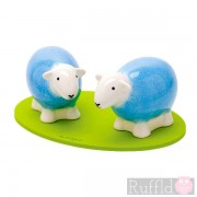 Sheep Salt and Pepper Shakers in Blue