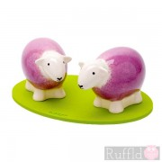 Sheep Salt and Pepper Shakers in Pink