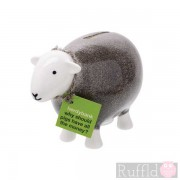 Sheep Money Box in Grey