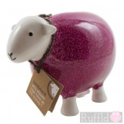 Sheep Money Box in Pink