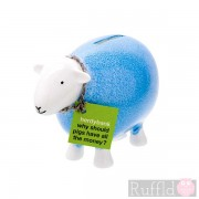 Sheep Money Box in Light Blue
