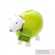 Sheep Money Box in Lime Green
