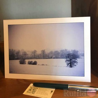 Card - Snow in the Fields at Swaines Green