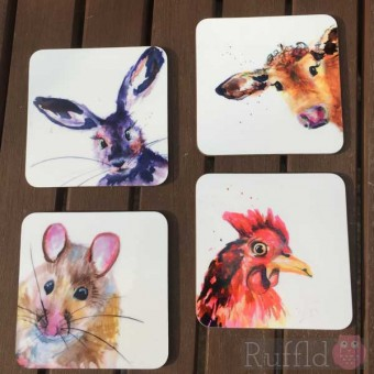 Coaster Set -  Inky Animal Collection
