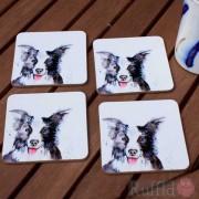 Coaster Set -  Inky Dog Design