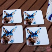Coaster Set -  Inky Donkey Design