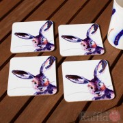 Coaster Set -  Inky Hare Design