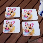 Coaster Set -  Inky Mouse Design