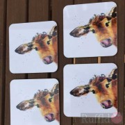 Coaster Set -  Inky Cow Design