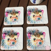Coaster Set -  Inky Hedgehog Design