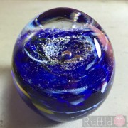 Paperweight - Salsa Collection - Oval Glass in Cobalt Blue Design
