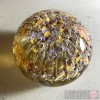 Paperweight - Salsa Collection - Round Glass in Yellow Design