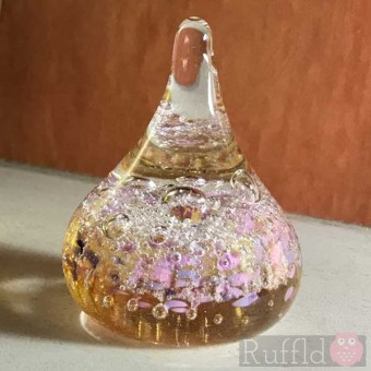 Ring Holder - Salsa Collection - Glass in Pink and Amber Design