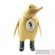 Parent Wooden Guin (penguin) In Black Welly Boots