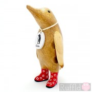 Parent Wooden Guin (penguin) In Red Welly Boots.