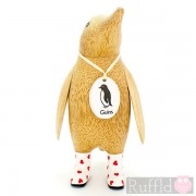 Parent Wooden Guin (penguin) In White Welly Boots.